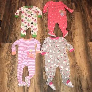 8 pairs of size 12 month pajamas